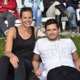 """Laure Manaudou et son frère Florent Manaudou - People au """"GPA Jump Festival"""" à Cagnes-sur-Mer, le 29 mars 2014."""