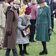 Camilla Parker Bowles, duchesse de Cornouailles, Zara Tindall, la princesse Anne d'Angleterre - La famille royale lors des courses de chevaux du festival de Cheltenham le 11 mars 2020.