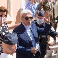 Semi Exclusif - Bernard Tapie et sa femme Dominique - Mariage civil de Sophie Tapie et Jean-Mathieu Marinetti à la mairie de Saint-Tropez en présence de leurs parents et de la famille le 20 août 2020.