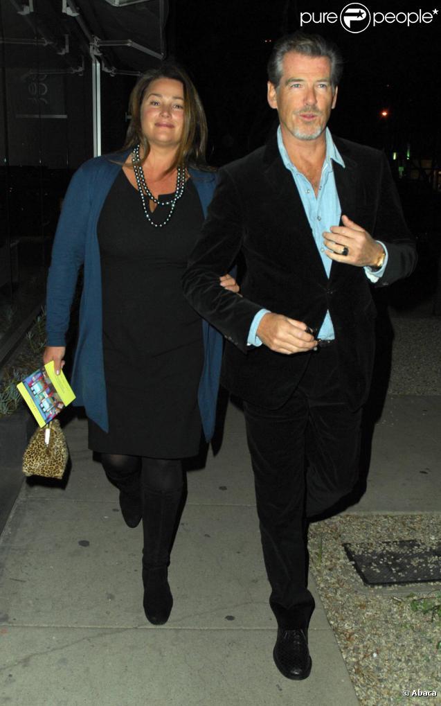 Pierce Brosnan et sa femme Kelly Shaye-Smith (28 octobre 2009, Los Angeles)