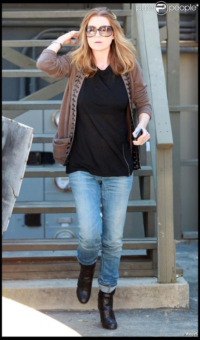 Ellen Pompeo le 30 octobre à Los Angeles : elle retrouvé la ligne !