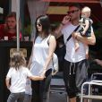 """Exclusif - Megan Fox et son mari Brian Austin Green sont allés déjeuner au restaurant mexicain """"Los Arroyos Montecito"""" avec leurs enfants Noah Shannon, Bodhi Ransom et Journey River, le 9 juillet 2017 à Santa Barbara."""
