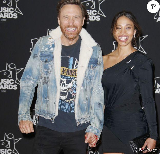 David Guetta et sa compagne Jessica Ledon - 19ème édition des NRJ Music Awards à Cannes. © Christophe Aubert via Bestimage