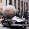 La bagnole de Dwayne Johnson et Samuel L. Jackson dans un bel état, sur le tournage de  The Other Guys , la nouvelle comédie policière d'Adam McKay, qui se tourne à New York, le 23 octobre 2009 !