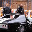 Dwayne Johnson et Samuel L. Jackson dégoûtés de l'état de leur voiture, sur le tournage de  The Other Guys , la nouvelle comédie policière d'Adam McKay, qui se tourne à New York, le 23 octobre 2009 !