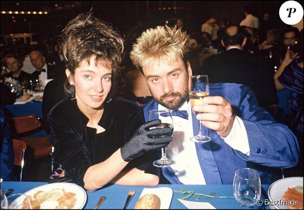 Anne Parillaud et Luc Besson au Festival de Cannes en 1988.