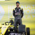 Esteban Ocon et Daniel Ricciardo lors de la préparation du Grand prix de Formule 1 à Melbourne, Australie, le 11 mars 2020. © Motorsport Images/Panoramic/Bestimage
