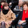 Exclusif - Lou Villafranca, la fille de Maurane, Jeannie Patureaux, la mère de Maurane - Inauguration du square Maurane à Schaerbeek, près de Bruxelles. Le 7 mai 2019. © Alain Rolland / Imagebuzz / Bestimage