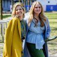 La reine Maxima des Pays-Bas et sa fille la princesse Catharina-Amalia des Pays-Bas - La famille royale des Pays-bas réunie à Eindhoven à l'occasion de la fête du Roi (Koningsdag), anniversaire du roi (54 ans), le 27 avril 2021.