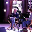 Stéphane Freiss et Lou de Laage à l'enregistrement des performances artistiques au flux streaming de la Journée des Assises de la Parité 2021, dans la grande salle des fêtes de la Mairie de Paris. Le 5 mai 2021.