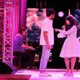 Amir Haddad et Indila à l'enregistrement des performances artistiques au flux streaming de la Journée des Assises de la Parité 2021, dans la grande salle des fêtes de la Mairie de Paris. Le 5 mai 2021.