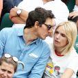 Laurence Arné et son compagnon dans les tribunes lors des internationaux de France de Roland Garros à Paris, le 2 juin 2017. © Dominique Jacovides-Cyril Moreau/Bestimage
