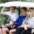 Exclusif - Brooklyn et Romeo Beckham en vacances dans la région des Pouilles en Italie, le 13 juillet 2020.
