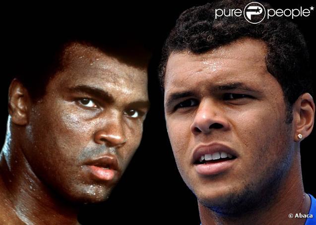 Mohamed Ali et Jo-Wilfried Tsonga