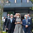 Le roi Philippe et la reine Mathilde de Belgique en visite sur le campus de l'hôpital Jessa à Hasselt. Le couple royal a rencontré les membres de l'équipe d'encadrement et a discuté de leur rôle dans la lutte contre le Coronavirus (COVID-19). Ils ont également parlé avec les membres hospitaliers de différents services. Le 18 mai 2021