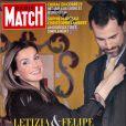 Letizia et Felipe en couverture de Paris Match