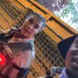 """Black M et sa femme Léa Djadja sur le tournage de la saison 2 de """"District Z"""" - Instagram"""