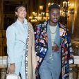 Black M (Black Mesrimes) et sa femme Léa Djadja - Les people au défilé Stella McCartney collection prêt-à-porter Automne/Hiver 2020-2021 lors de la Fashion Week à Paris (PFW), le 2 mars 2020. © Olivier Borde/Bestimage