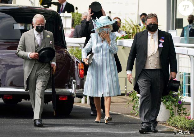 Le prince Charles et son épouse Camilla au Royal Ascot, le 15 juin 2021.