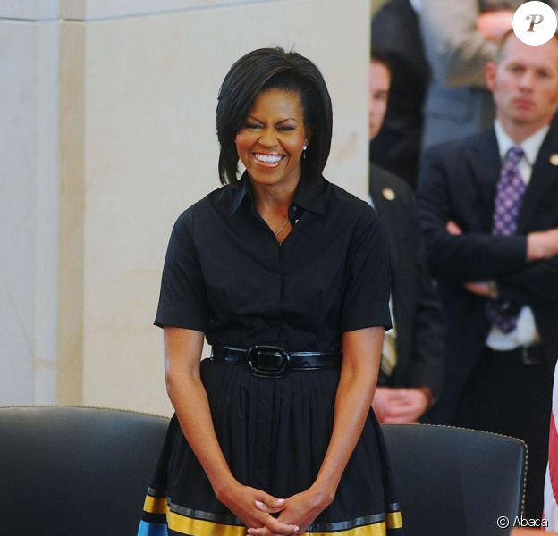 Michelle Obama en Sophie Théallet en avril 2009