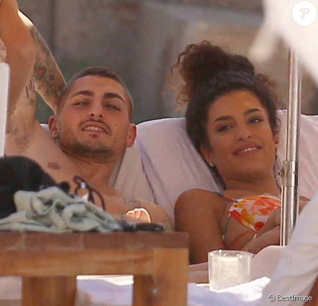 Marco Verratti et sa femme Jessica passent leur lune de miel à Ibiza.