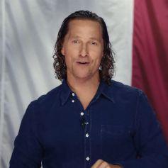 """Matthew McConaughey anime l'émission """"We're Texas"""" en visioconférence pour venir en aide aux victimes de la tempête hivernale. Le 22 mars 2021."""