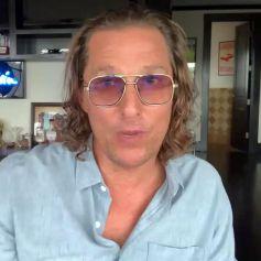 Matthew McConaughey inaugure sa chaîne YouTube. Los Angeles. Le 18 mars 2021.