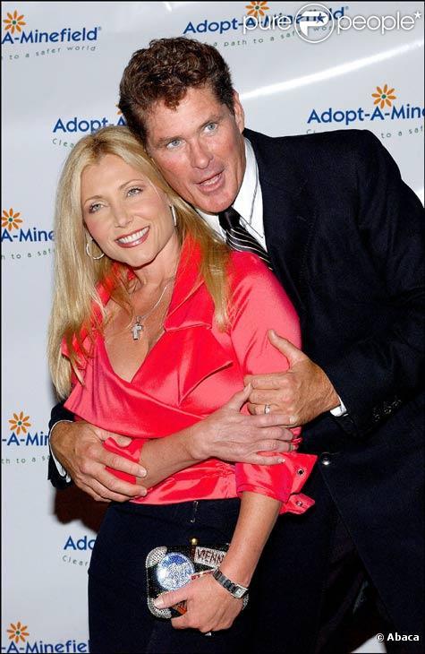 David Hasselhoff et sa femme Pamela Bach en septembre 2003