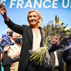 Discours de Marine Le Pen au Palais des Congres de Perpignan lors du congrès du Rassemblement National (RN) à Perpignan © Thierry Breton/Panoramic/Bestimage