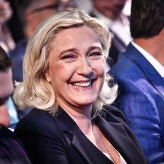 Jordan Bardella / Marine Le Pen lors du congrès du Rassemblement National (RN) à Perpignan, France, le 4 juillet 2021. © Thierry Breton/Panoramic/Bestimage
