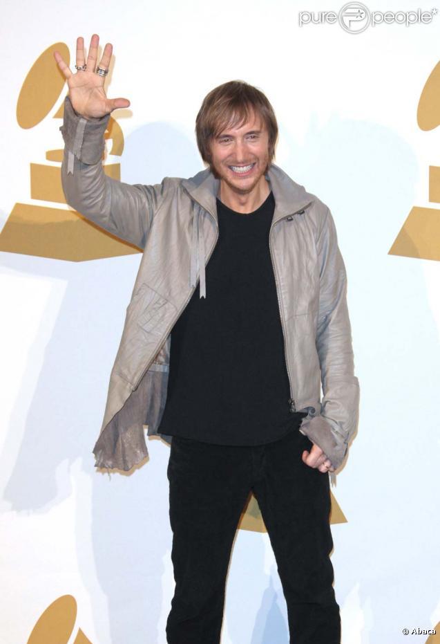 David Guetta lors de la présentation des sélectionnés de la 52e cérémonie des Grammy Awards. Le 2 décembre 2009 à Los Angeles.