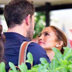 Jennifer Lopez et Ben Affleck partagent une pause tendresse en marge du 78ème festival international du film de Venise, la Mostra le 11 septembre 2021.