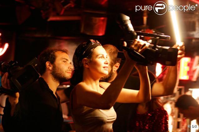 Helena Noguerra sur le tournage de son court métrage pornographique  Peep-Show .