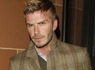 David et Victoria Beckham sont arrivés à Londres, anéantis, pour l'enterrement de son grand-père...