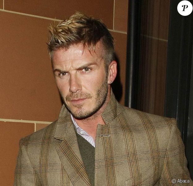 David Beckham, à la sortie du restaurant Cipriani, dans le quartier de Mayfair, à Londres, le 7 décembre 2009.