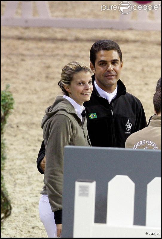 Athina Onassis et son mari Alvaro de Miranda lors du Gucci Masters à Villepinte le 11 décembre 2009