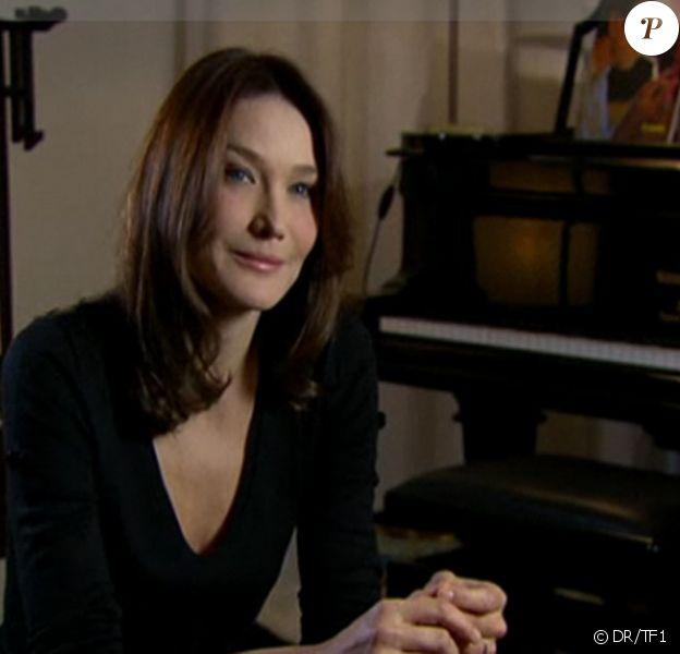 Carla Bruni dans l'émission 7 à 8 sur TF1 le 13 décembre