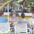 Kelly Osbourne et Luke Worrall, déjeuner entre amis avec Louis van Amstel, Miami, le 11 décembre 2009.