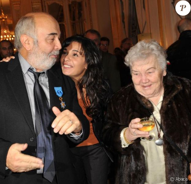 Gérard Jugnot, sa maman, et Saïda Jawad au Ministère de la Culture.