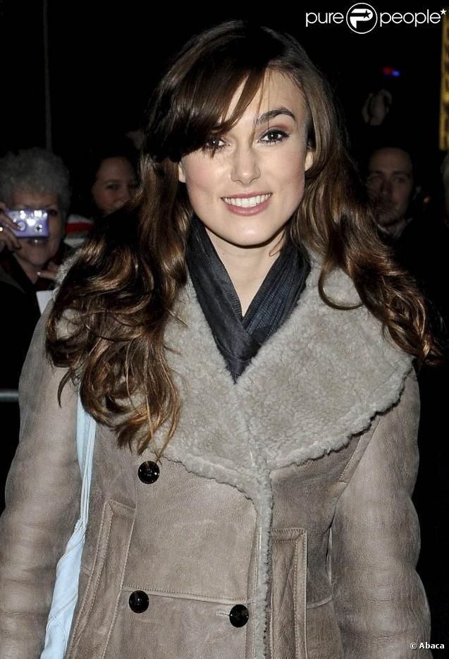 Keira Knightley à Londres, le 21 décembre 2009