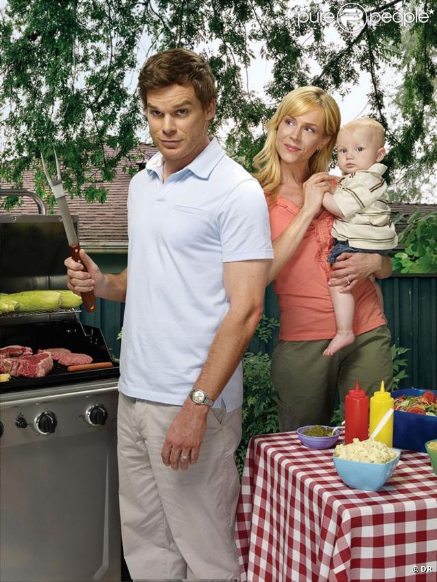 Dexter (Michael C. Hall), Rita (Julie Benz) et leur chérubin