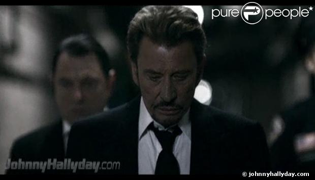 Capture du clip de Johnny Hallyday