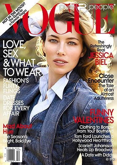Jessica Biel en couverture de Vogue