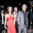 Jean-Paul Belmondo et Barbara Gandolfi arrivent aux LAFCA Awards, à Los Angeles le 16 janvier 2010 !