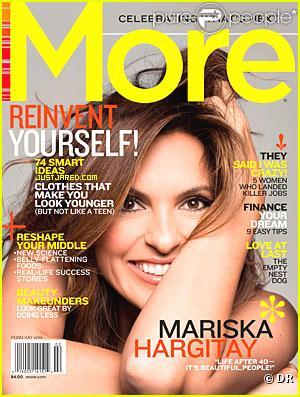 Mariska Hargitay en couverture de More