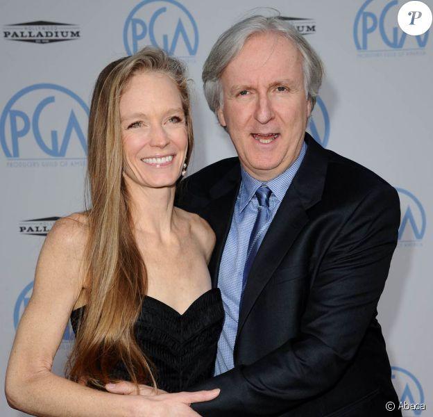 James Cameron et sa femme Suzy Amis à l'occasion de la cérémonie des PGA Awards, qui se sont tenus à Hollywood, Los Angeles, le 24 janvier 2010.