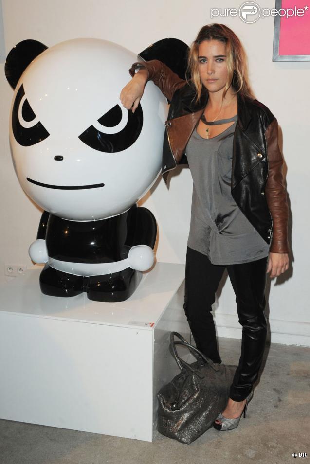 Vahina Giocante lors du vernissage de l'exposition Hi Panda by Ji-Ji, le 25 janvier 2010 au Art Club du Palais de Tokyo.