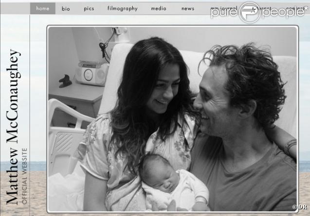 Capture d'écran du site de Matthew McConaughey
