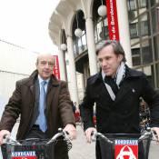 Paul Belmondo et Alain Juppé : virée entre bonhommes...  mais en vélo !