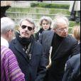 Lambert et Jean-Marie, très dignes dans la douleur, aux obsèques de George Wilson à l'Eglise Saint-Roch à Paris (8 février 2010)
